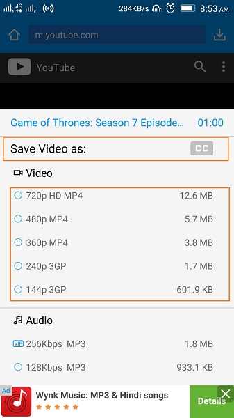 How to Download Game of Thrones Subtitles - Start Downloading Video Along with Subtitles