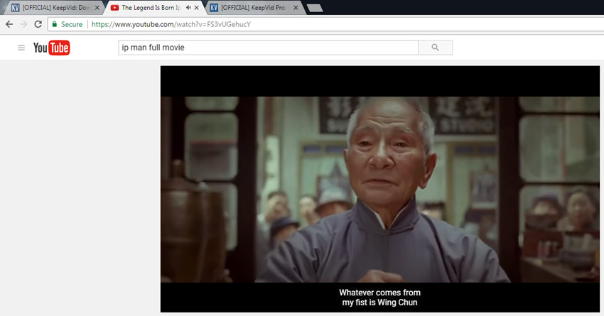 Download Ip Man 3 Full Movie with English Subtitles - Copy YouTube Video URL