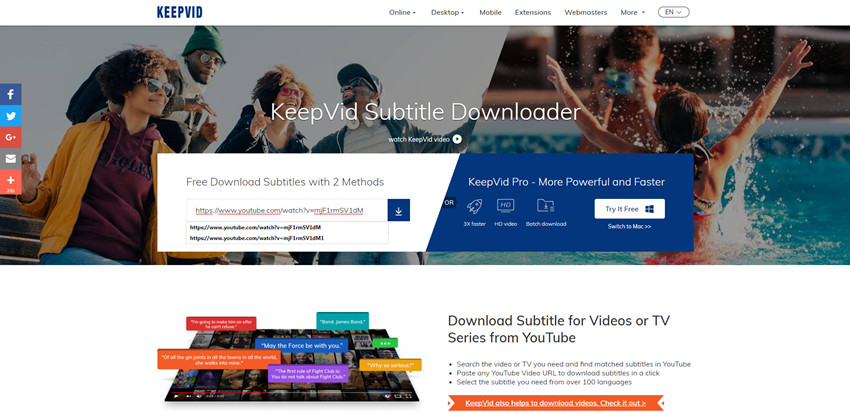 Download TV Subtitles - Paste Video URL